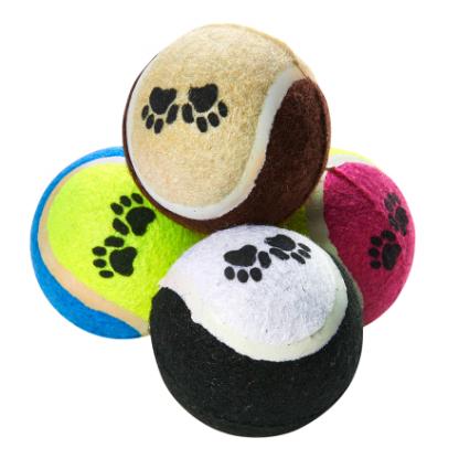 hundleksak tennisboll